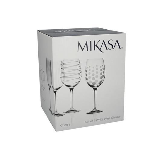 Mikasa Cheers Набор бокалов для белого вина из хрусталя 4 ед  (арт. 5159282)