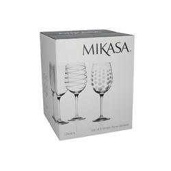 Mikasa Cheers Набір бокалів для білого вина із кришталевого скла 4 од