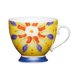 KC Чашка фарфоровая Марокканский узор  желтая