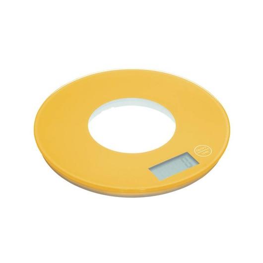 CW Весы кухонные электронные круглые 5кг желтые