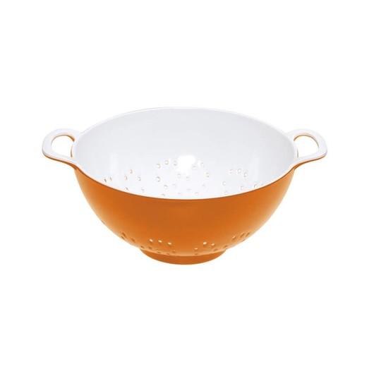 CW Коландер меламиновый двухцветный 15см (700мл) оранжевый с белым
