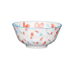 KC Миска керамическая Красно-синие цветы