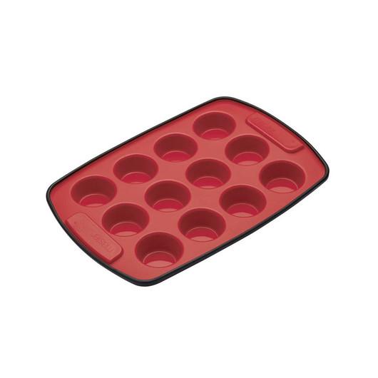 MC SS Форма для выпечки мини-кексов 12 отверстий силиконовая 29см х 20см  (арт. 156235)