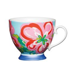 KC Чашка фарфоровая Яркие цветы