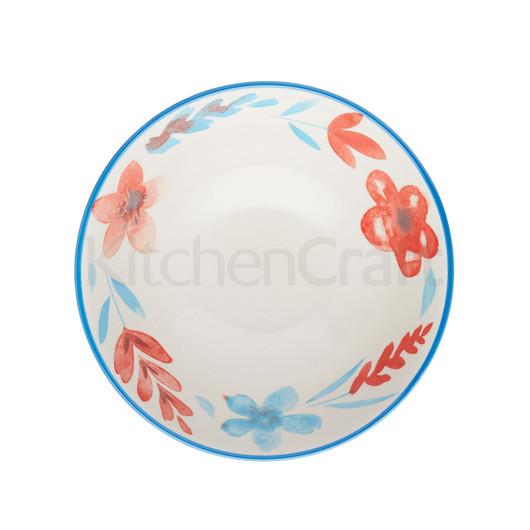 KC Миска керамічна Червоно-сині квіти 15.5x7.5см 500мл  (арт. 778659)