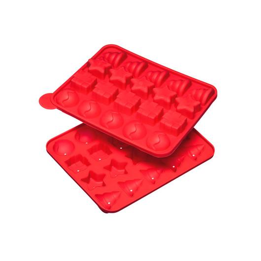 SDI Форма для выпекания рождественских мини тортиков силиконовая, 23 х 18,5 см  (арт. 474070)