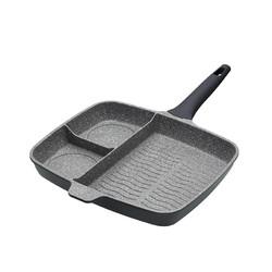 MC CA Сковорода для гриля алюмінієва (три секції) 32 см