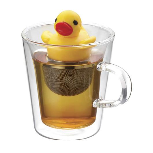 Kitsch'n'Fun Заварник для чая с подставкой Утка  (арт. 165107)