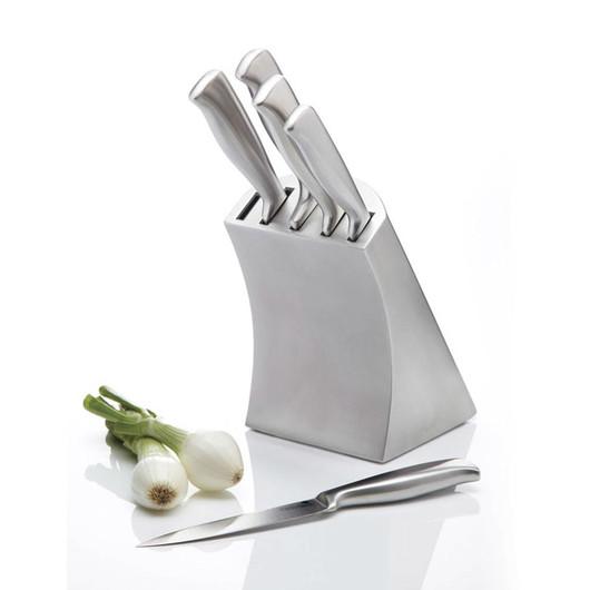 MC Набір ножів Orissa 5 одиниць з підставкою з нержавіючої сталі  (арт. 382573)