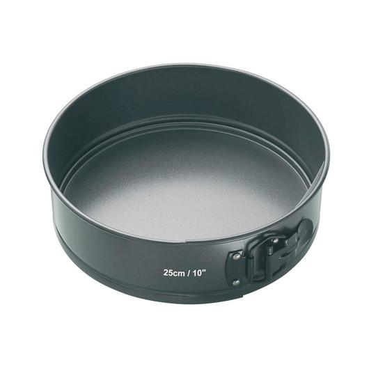 MC NS Форма для випічки пирога кругла з антипригарним покриттям з затискачем і знімним дном 25 см
