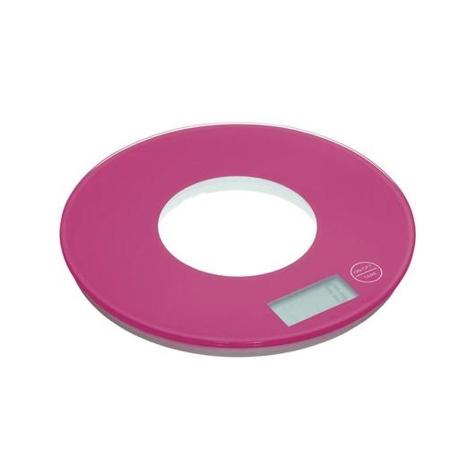 CW Весы кухонные электронные круглые 5кг розовые