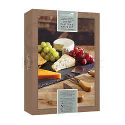 MC Artesa Набір для сиру з грифельною сервірувальною дошкою і трьома ножами, 35 * 25 см