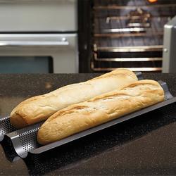 MC CB Форма для випічки багета 2 отвори з антипригарним покриттям 39см х 16см х 5см