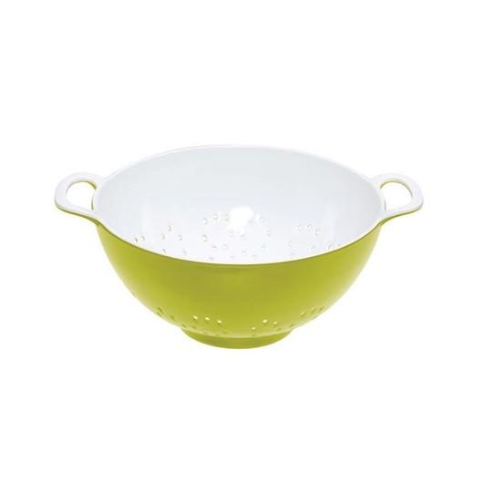 CW Коландер меламиновый двухцветный 15см (700мл) зеленый с белым