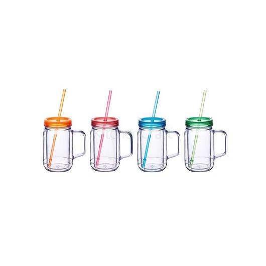 Coolmovers Romany Чашка пластиковая с крышкой и трубочкой 400 мл  (арт. 648389-з)