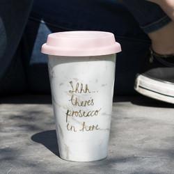 CT Ava & I Чашка портативна фарфорова з подвійною стінкою та силіконовою кришкою 350 мл