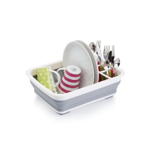 KC Сушка для тарілок і чашок складна силіконова 37,5 см х 29,5 х 12 см  (арт. 640826)