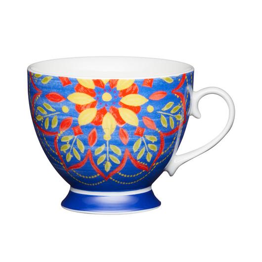 KC Чашка порцелянова Марокканський візерунок синя 400 мл  (арт. 775337)