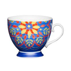 KC Чашка фарфоровая Марокканский узор  синяя 400 мл
