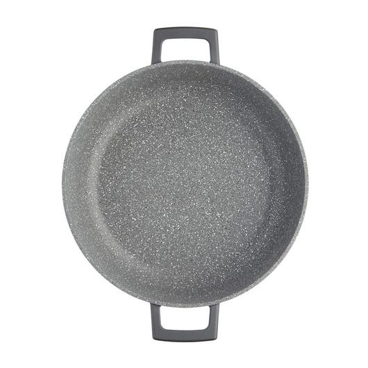 MC CA Кастрюля алюминевая низкая с антипригарным покрытием с крышкой 4л,  28 см  (арт. 720207)