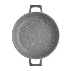 MC CA Кастрюля алюминевая низкая с антипригарным покрытием с крышкой 4л,  28 см