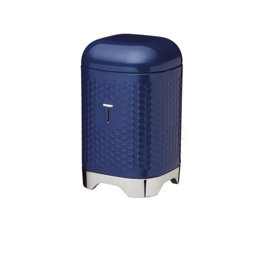 LovN Емкость для чая металлическая синяя 11*11*19 см