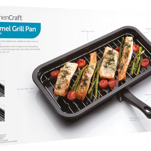 KC Сковорода для гриля эмалированная 40см х 23см  (арт. 157065)