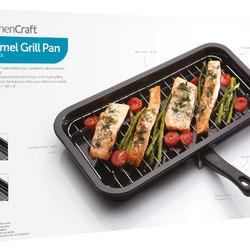 KC Сковорода для гриля эмалированная 40см х 23см