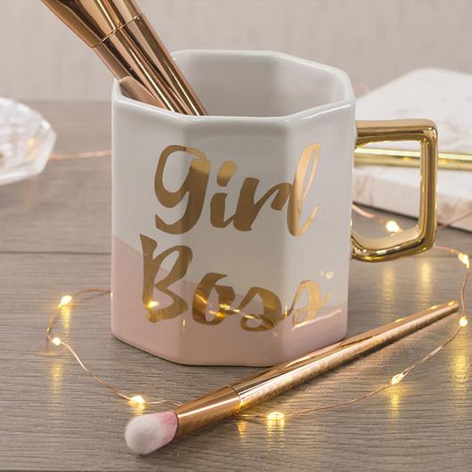 CT Ava & I Чашка керамічна восьмикутна Girl Boss 450 мл  (арт. 5213686)
