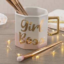 CT Ava & I Чашка керамічна восьмикутна Girl Boss 450 мл