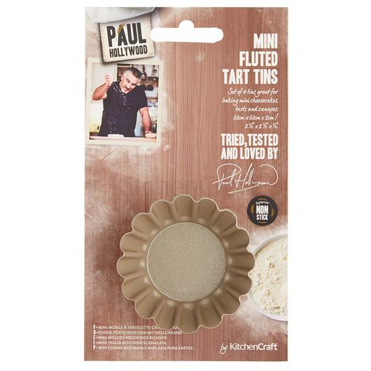 Paul Hollywood Форма для міні-пирогів рифлена кругла 4 шт  (арт. 664433)