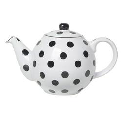 CT London Pottery Globe Чайник керамічний 500мл білий чорні горохи