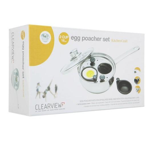 CV Пароварка для яиц из нержавеющей стали 16см (2 яйца)  (арт. 124241)