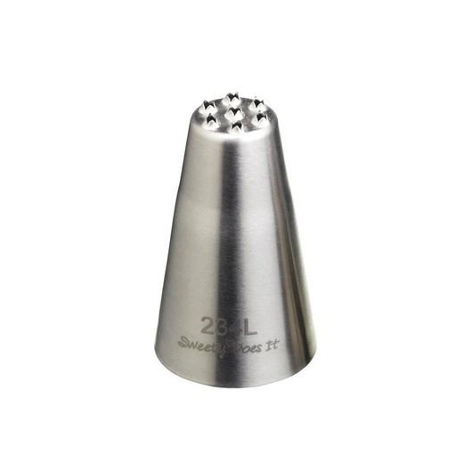 SDI Насадка на кондитерский шприц из нержавеющей стали большая Трава/шерсть 13мм  (арт. 454430)