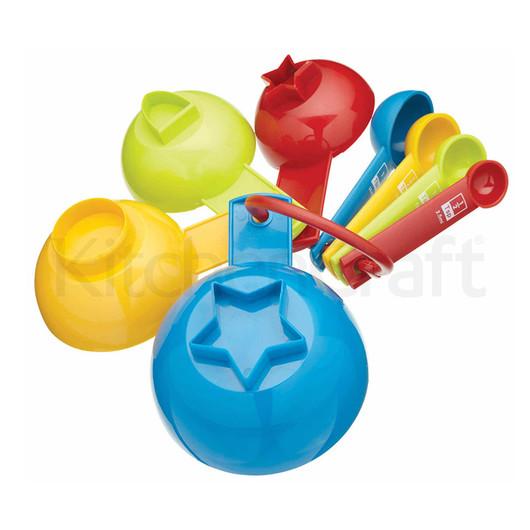 Miniamo Brights Набор мерных ложек и чашек с формами для печенья 8 единиц  (арт. 103925)