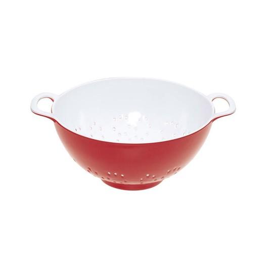 CW Коландер меламиновый двухцветный 15см (700мл) красный с белым