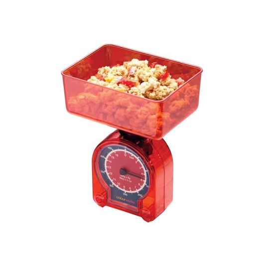 CW Весы кухонные механические 500гр красные