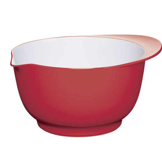 CW Миска меламінова двоколірна 22см (3л) червона з білим
