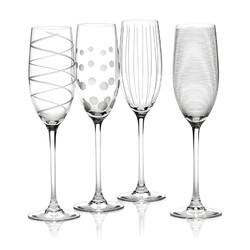 Mikasa Cheers Набір бокалів для шампанського із кришталевого скла 4 од