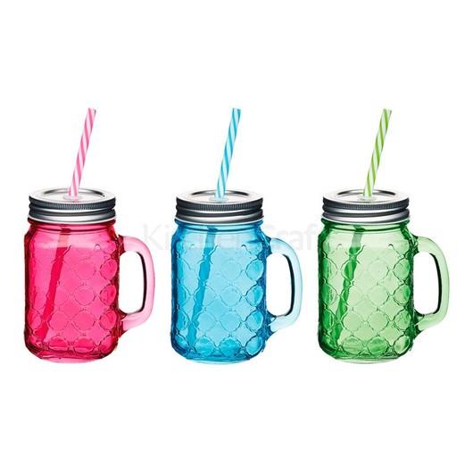 Coolmovers Romany Чашка скляна з кришкою і трубочкою 450 мл  (арт. 633996-с)