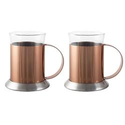 CT La Cafetiere Набір чашок мідного кольору 2 шт