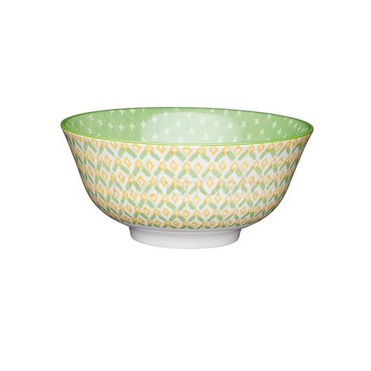 KC Миска керамічна Зелена геометрія 15.5x7.5см 500мл  (арт. 778734)