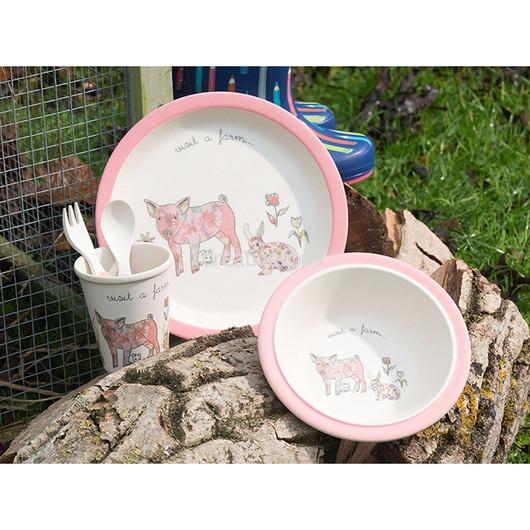 CT Visit A Farm Набор столовых приборов детский Свинка 5 единиц  (арт. 5178966)