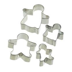 Let's Make Формочки для печенья Имбирная семья металлические
