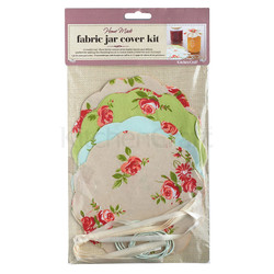 HM Салфетки для банок с вареньем с резинками и лентами 16 комплектов - Цветы
