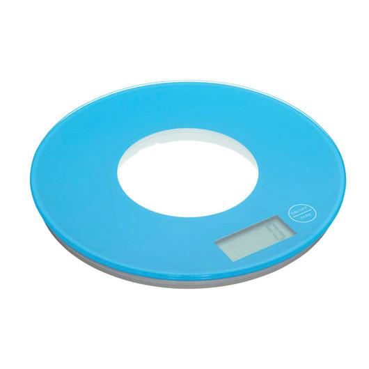 CW Весы кухонные электронные круглые 5кг голубые