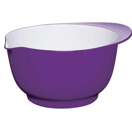 CW Миска меламінова двоколірна 22см (3л) фіолетова з білим