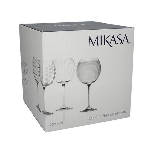 Mikasa Cheers Набір шаровидних бокалів для вина та коктейлів із кришталевого скла 4 од  (арт. 5159316)