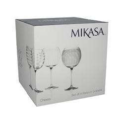 Mikasa Cheers Набір шаровидних бокалів для вина та коктейлів із кришталевого скла 4 од
