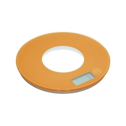 CW Весы кухонные электронные круглые 5кг оранжевые